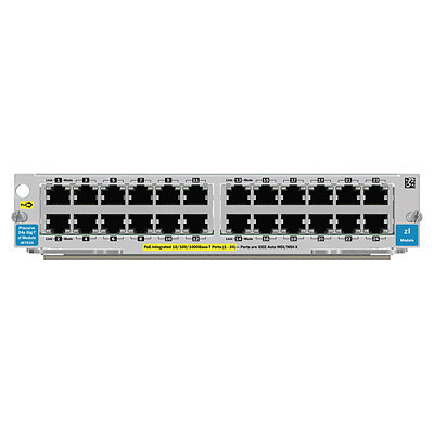 Hewlett Packard Enterprise 24-port Gig-T PoE+ v2 zl Gigabit Ethernet network switch module