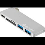 eSTUFF ES84121-SILVER USB 3.0 (3.1 Gen 1) Type-C 5000Mbit/s Silver interface hub