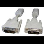 Cables Direct 10m DVI-D m/m DVI cable White