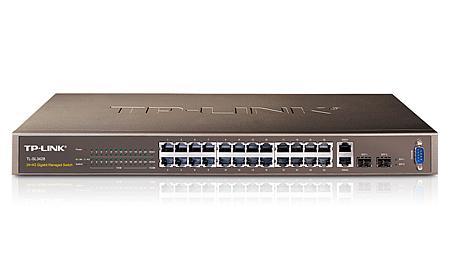 TP-LINK 24-Port 10/100Mbps + 4-Port Gigabit L2 Managed Switch