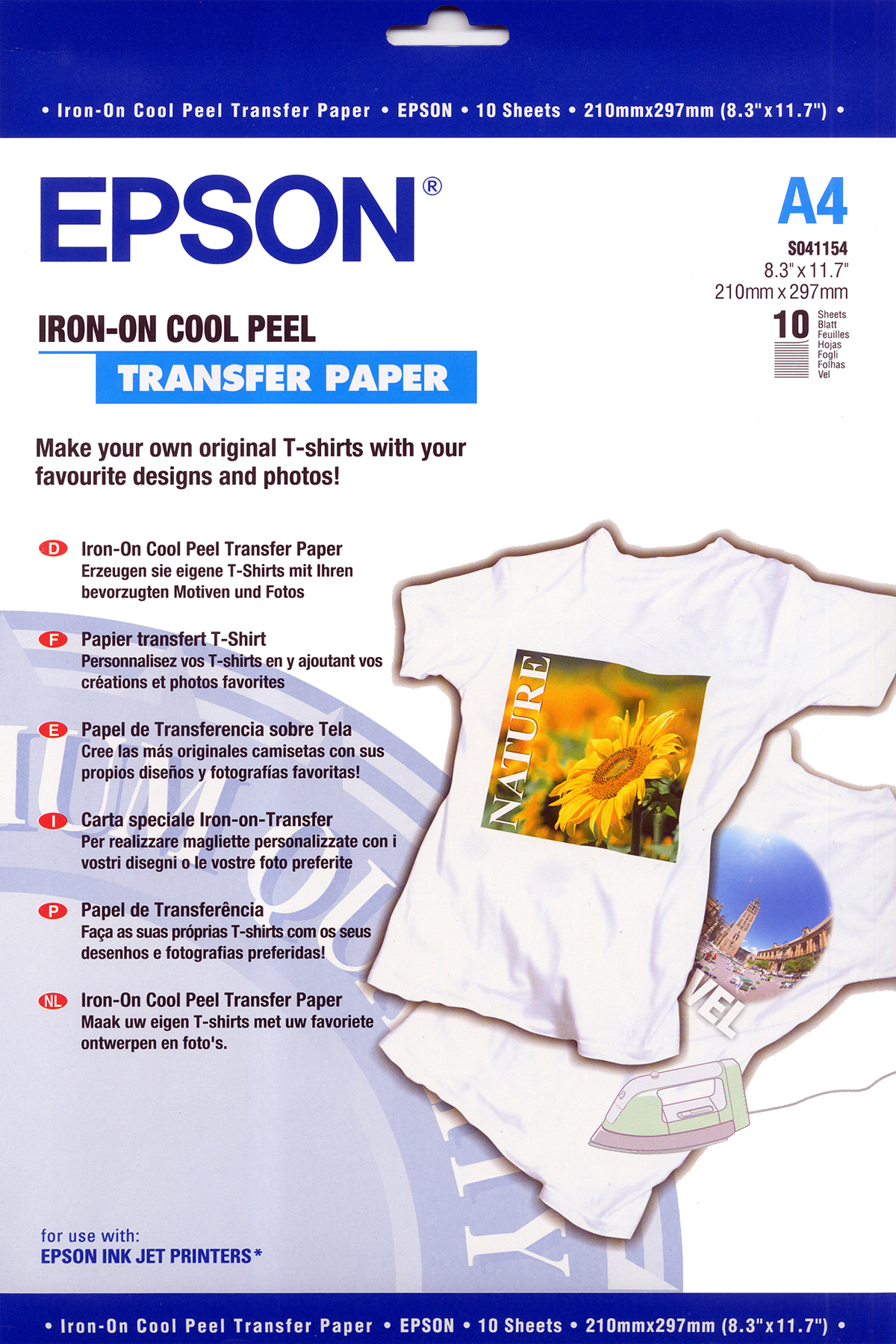 Epson Iron-on-Transfer Paper - A4 - 10 Sheets