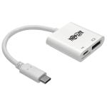 "Tripp Lite U444-06N-DP8WC video cable adapter 5.98"" (0.152 m) USB Type-C DisplayPort + USB Type-C White"