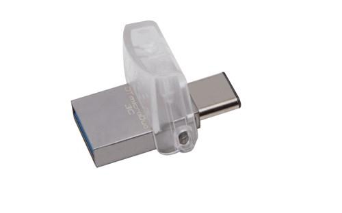 Kingston Technology DataTraveler microDuo 3C 32GB USB flash drive USB Type-A / USB Type-C 3.2 Gen 1 (3.1 Gen 1) Silver