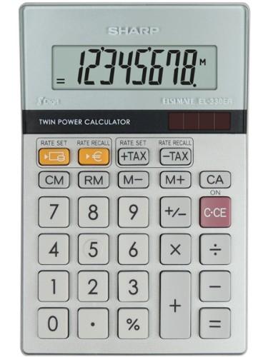 Sharp EL-330ER calculator Pocket Financial Grey