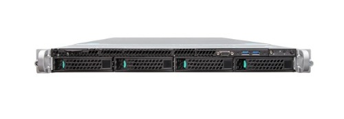 Intel R1304WT2GSR server barebone Intel® C612 LGA 2011-v3 Rack (1U) Black,Metallic