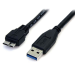 StarTech.com 0.5m (1.5ft) Black SuperSpeed USB 3.0 Cable A to Micro B - M/M