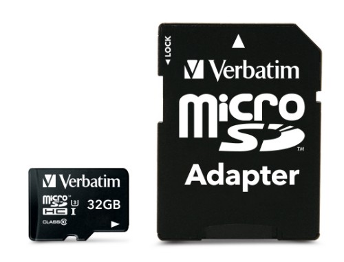 Verbatim Pro 32GB MicroSDHC UHS Class 10 memory card