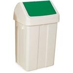 FSMISC 50 LITRE SWING BIN WHITE/GREEN 330330351