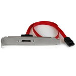 "StarTech.com ESATAPLT18IN SATA cable 18"" (0.457 m) eSATA Black, Red, Silver"