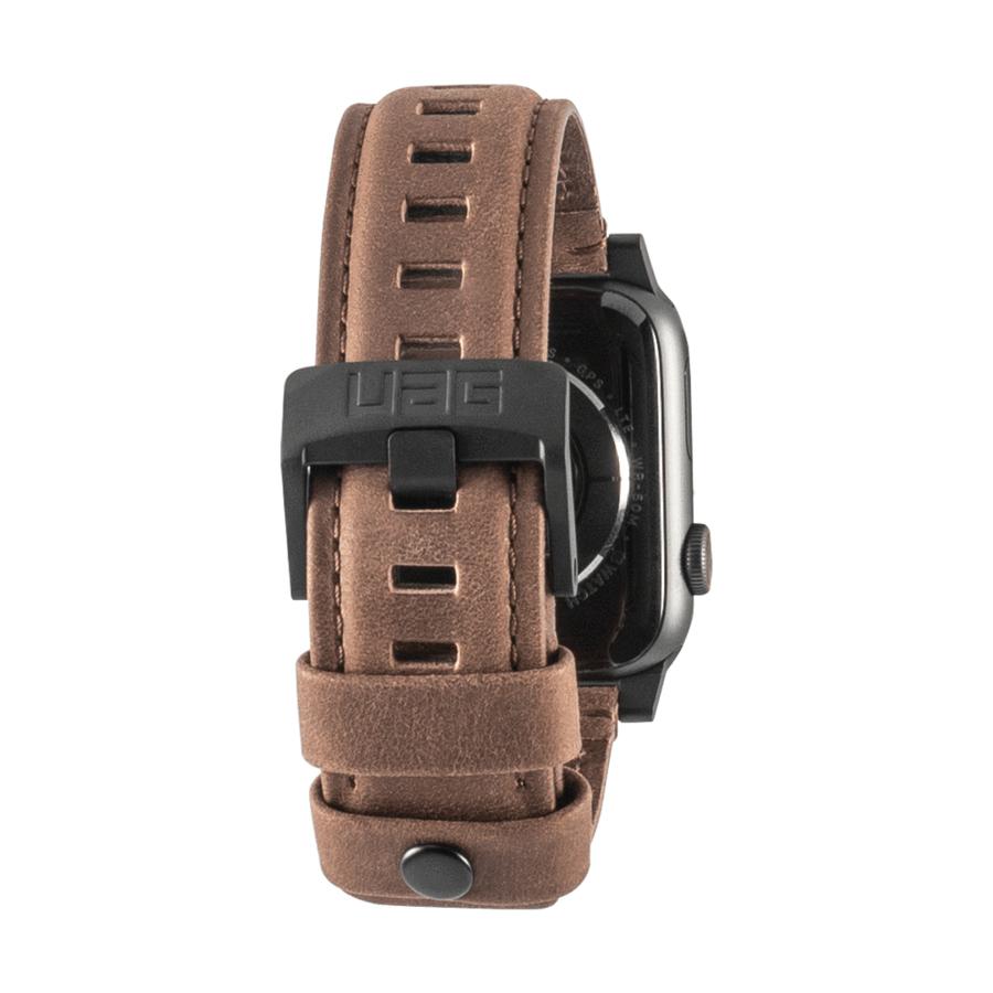 Urban Armor Gear 19148B114080 accesorio de relojes inteligentes Grupo de rock Marrón Cuero, Acero inoxidable