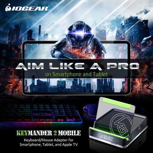 Aten KeyMander 2 Mobile Keyboard Mouse Adapter GE1337M for iPhone, iPad or Apple TV. Play with the latest Apple Arcade games, Google® Stadia™ games and App Store