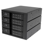 StarTech.com 4-bay aluminium trayless hot-swappable mobile rack backplane voor 3,5 inch SAS II/SATA III 6 Gbps HDD