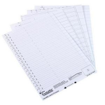 Rexel Crystalfile `275` Lateral File Insert White (50) hanging folder