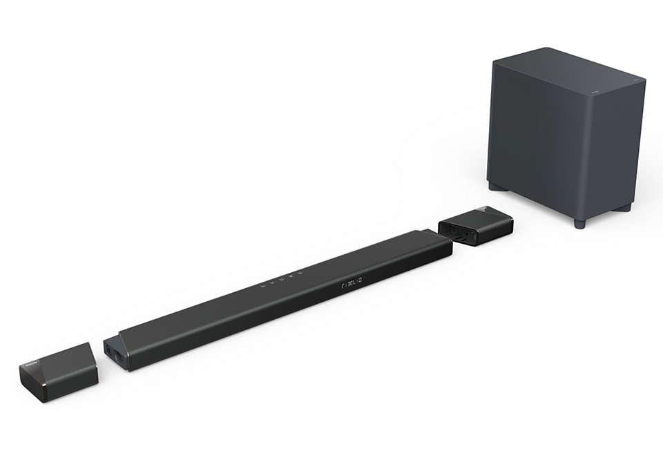 Philips Fidelio Soundbar 7.1.2 with wireless subwoofer