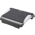 Q-CONNECT FOOTREST WITH CARPET BLK/SILV