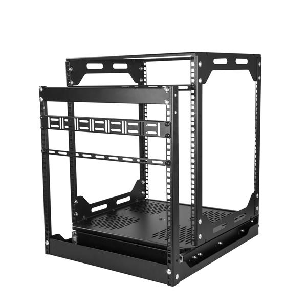 buy 12u slide out server rack rotating 4 post rack porack12u online from. Black Bedroom Furniture Sets. Home Design Ideas