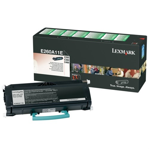 Lexmark E260A11E Toner black, 3.5K pages @ 5% coverage