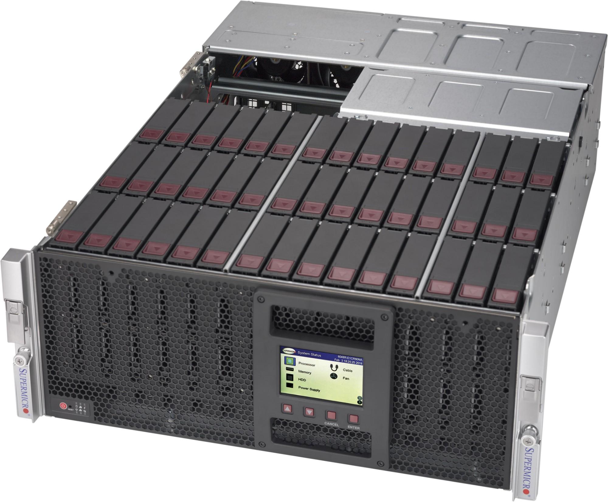 Supermicro SuperChassis 946LE1C-R1K66JBOD network equipment chassis 4U Black