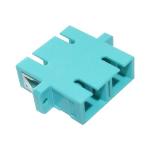 Cablenet OM3 SC Duplex Adaptor Aqua