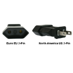 InLine Euro EU to US 2-Pin Power Plug Adapter