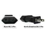 InLine Euro EU to US 2-Pin Power Plug Adapter