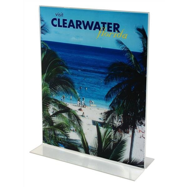 Deflecto A5 Portrait Stand-up Sign Clear