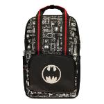 DC COMICS Batman Graffiti All-over Print Backpack, Unisex, Black/Red (BP276750BTM)