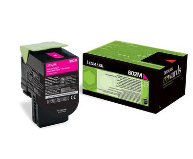 Lexmark 80C20M0 (802M) Toner magenta, 1000 pages