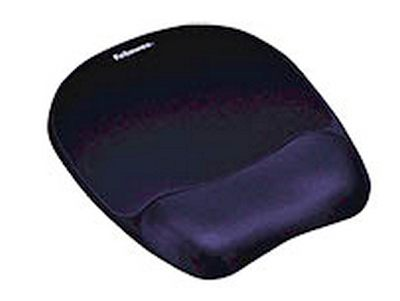 Fellowes Mousepad with integral wrist rest. Memory Foam pillow conforms to your wrist for exceptiona