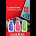 Sandisk Cruzer Blade 3x 32GB unidad flash USB USB tipo A 2.0 Azul, Verde, Rosa