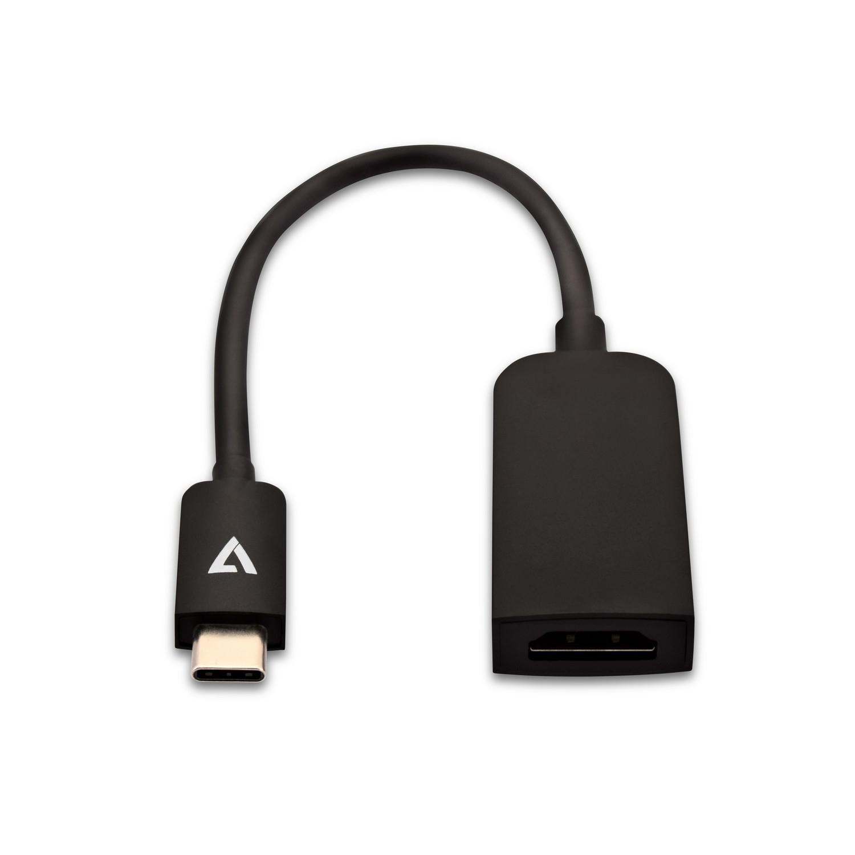 V7 Adaptador USB-C (m) a HDMI® (h) color negro fino