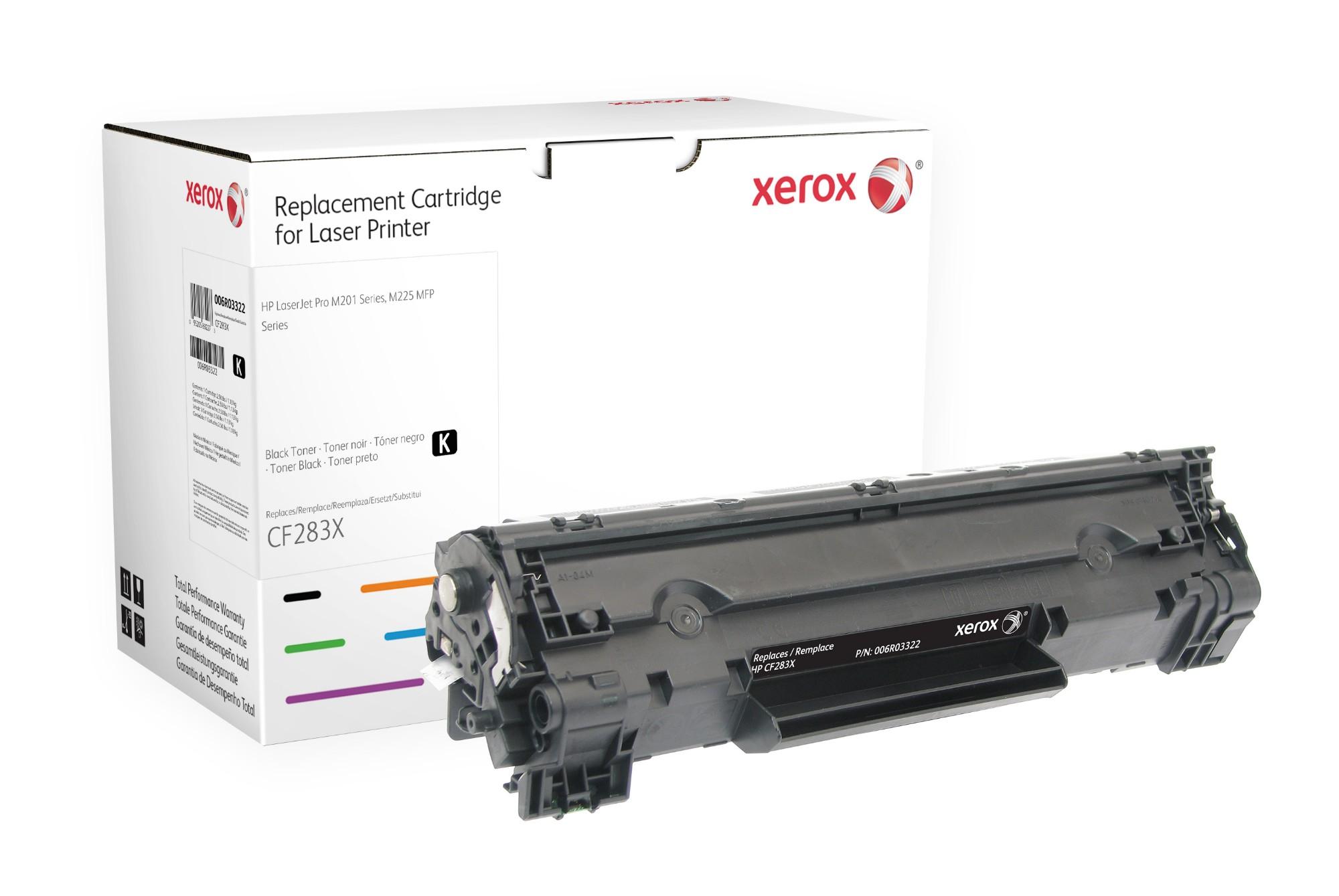 Xerox Cartucho de tóner negro. Equivalente a HP CF283X. Compatible con HP LaserJet M127, LaserJet M201, LaserJet M225