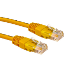 Cables Direct 0.5m Cat5E 0.5m Cat5e U/UTP (UTP) Yellow networking cable
