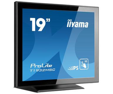 "iiyama ProLite T1932MSC-B5X touch screen monitor 48.3 cm (19"") 1280 x 1024 pixels Multi-touch Tabletop Black"