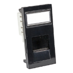 Cablenet Cat6 UTP Shuttered Low Profile Flat Module 25mm x 50mm Black