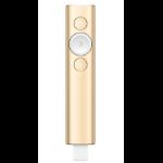 Logitech Spotlight wireless presenter Bluetooth Gold