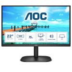 """AOC B2 22B2H/EU LED display 54.6 cm (21.5"""") 1920 x 1080 pixels Full HD Black"""
