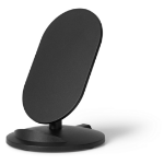 eSTUFF Wireless Charger Stand Indoor Black mobile device charger
