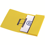 Elba Stratford Transfer Spring File Recycled Pocket 320gsm 36mm Foolscap Yellow Ref 100090150 [Pack 25]