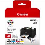 Canon PGI-1500XL C/M/Y/BK Origineel Zwart, Cyaan, Magenta, Geel