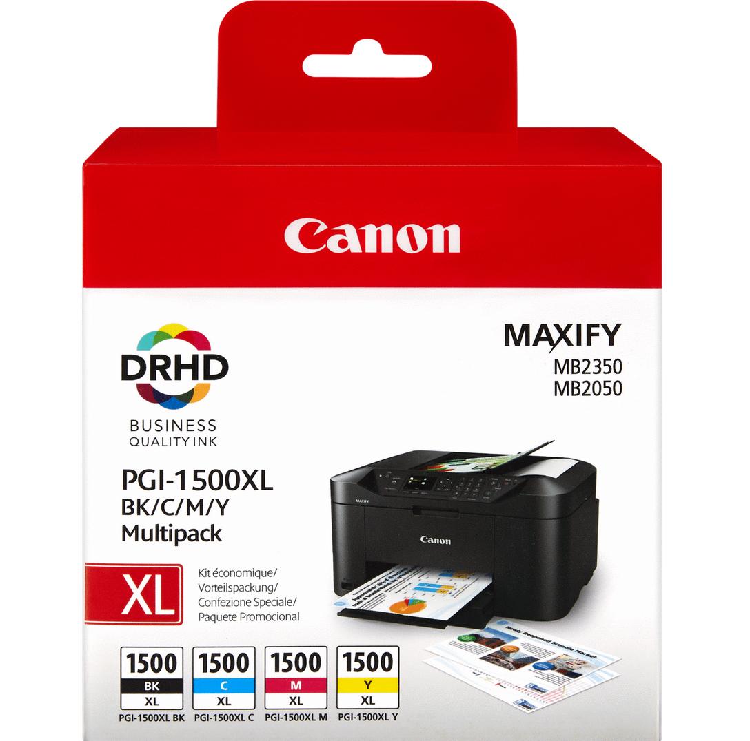 Canon PGI-1500XL C/M/Y/BK Original Negro, Cian, Magenta, Amarillo