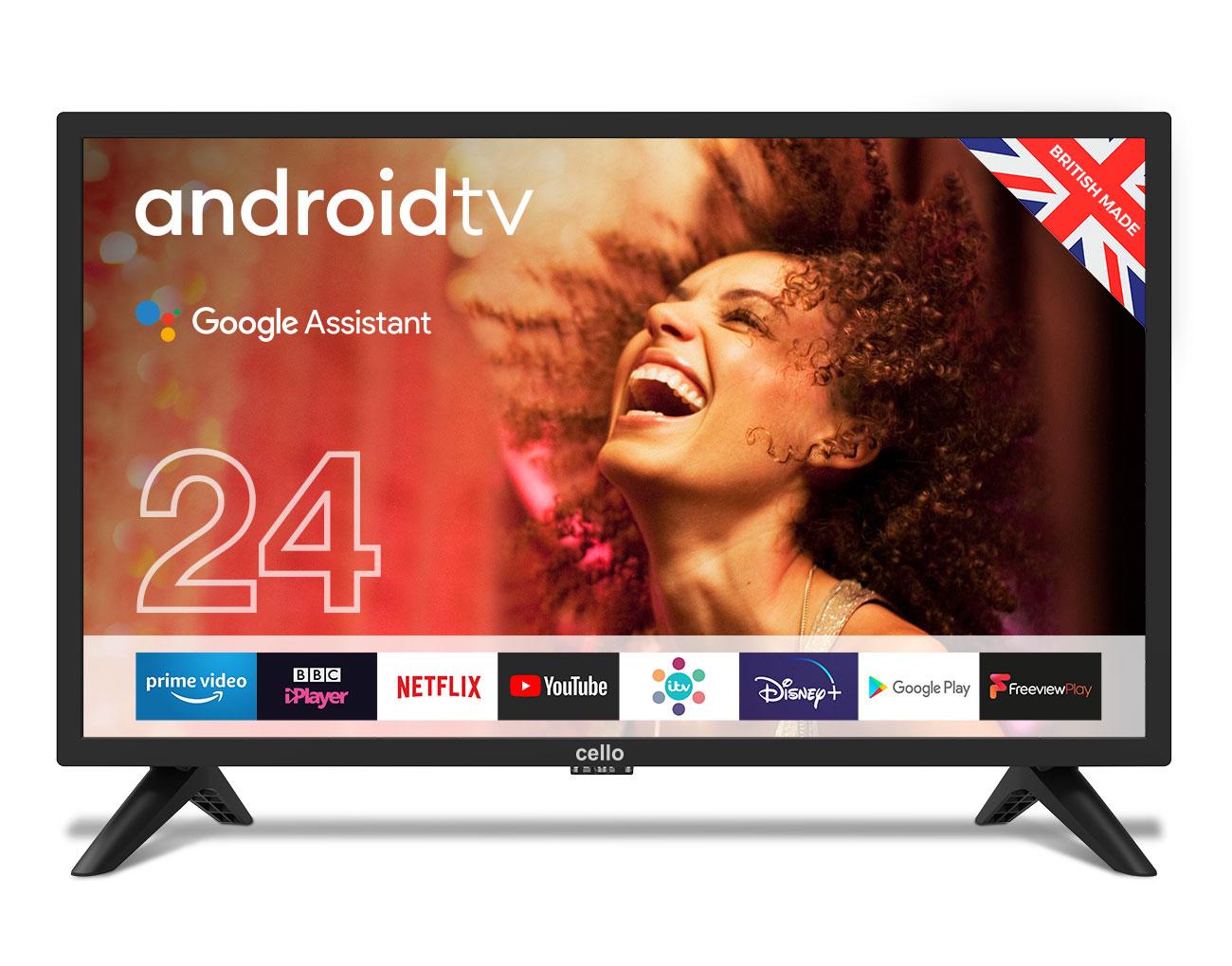 """Cello C2420G TV 61 cm (24"""") HD Smart TV Black"""