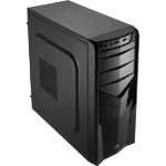 Aerocool V2X Black Edition Midi-Tower Black computer case