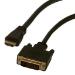 MCL HDMI/DVI-D 0,5 m Negro