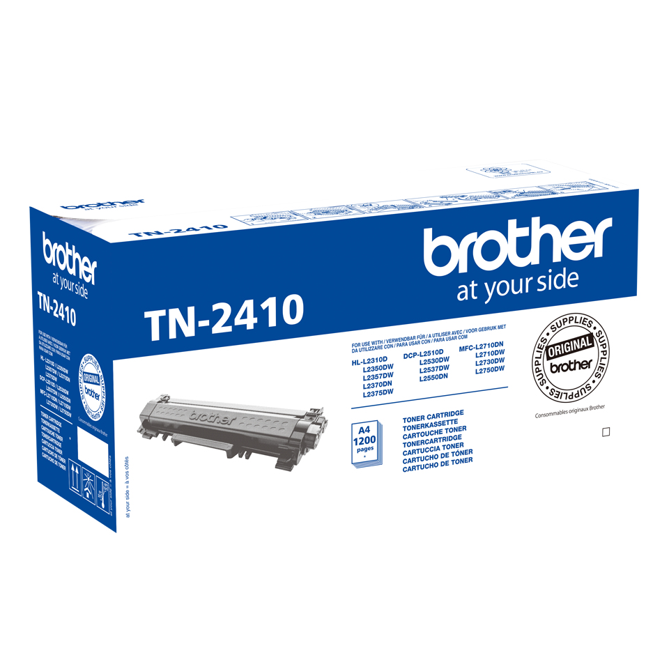 Brother TN-2410 cartucho de tóner Original Negro 1 pieza(s)