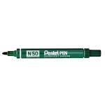 Pentel N 50 permanent marker Green Bullet tip 12 pc(s)