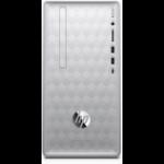 HP Pavilion 590-p0066 DDR4-SDRAM 8400 Mini Tower 8th gen Intel® Core™ i5 12 GB 1000 GB HDD Windows 10 Home PC Silver, Black