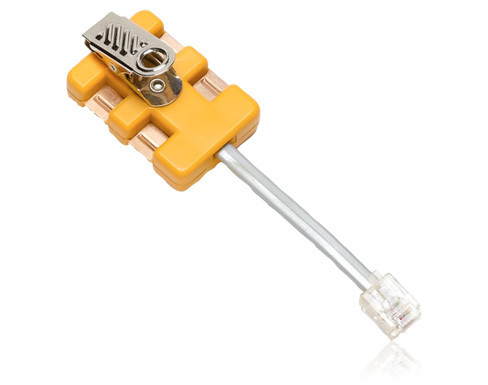 Fluke 4-wire in-line modular adapter + K-Plug Yellow