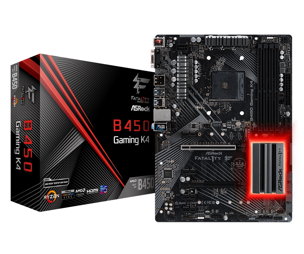 Asrock Fatal1ty B450 Gaming K4 Zócalo AM4 ATX AMD B450