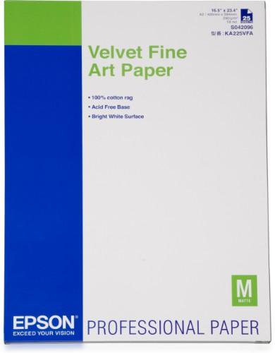 Epson Velvet Fine Art Paper, DIN A2, 260g/m², 25 Sheets